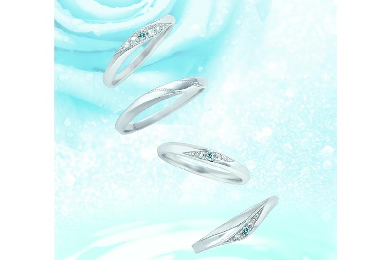 【静岡・結婚指輪】幸せを呼ぶブルーダイヤモンド💎