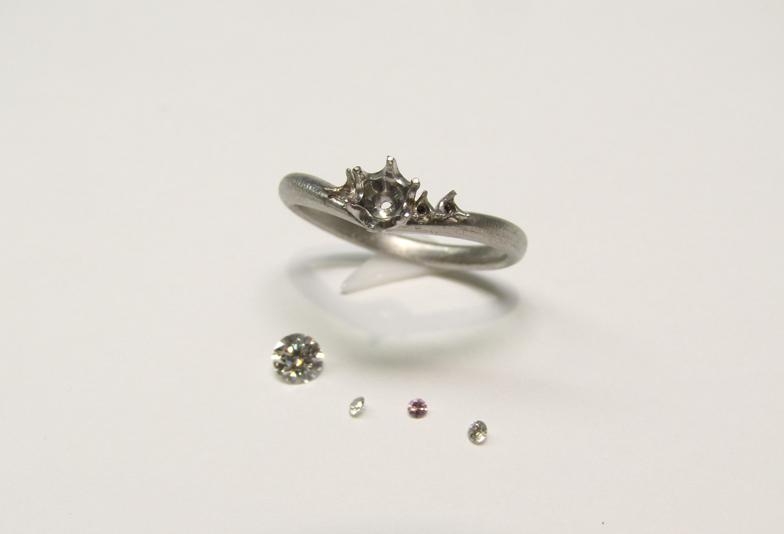 オーダー婚約指輪斜め