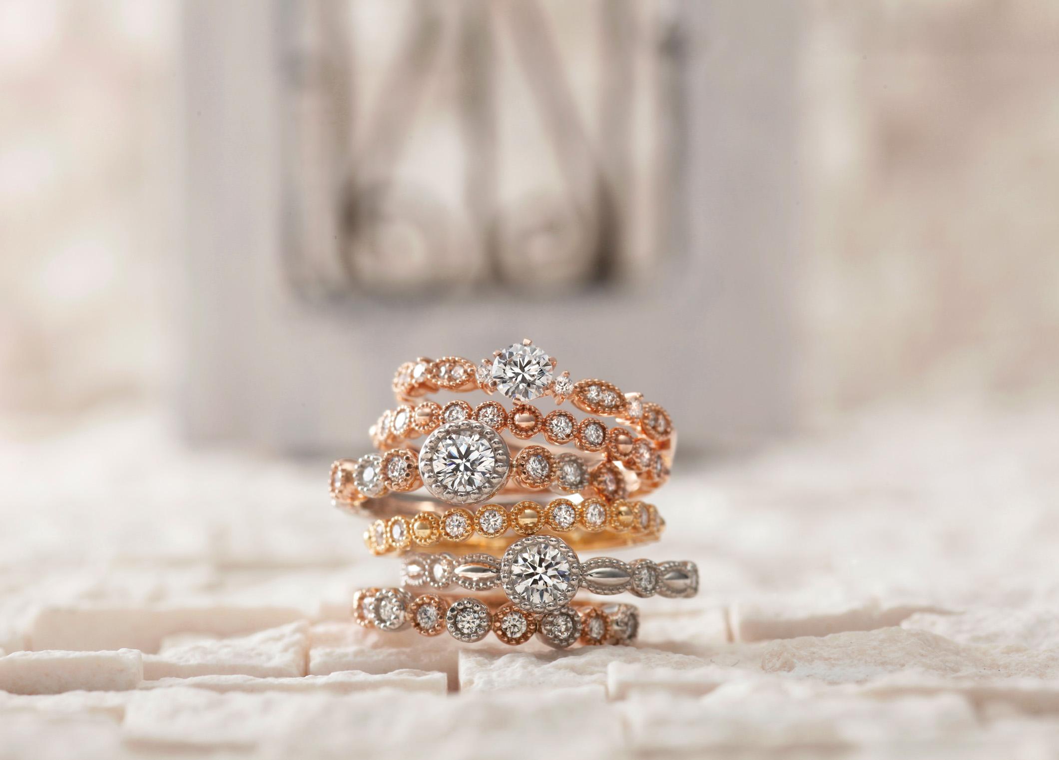 静岡市で見つけるアンティークな結婚指輪♡ゴールドの結婚指輪で友達と差をつけよう!