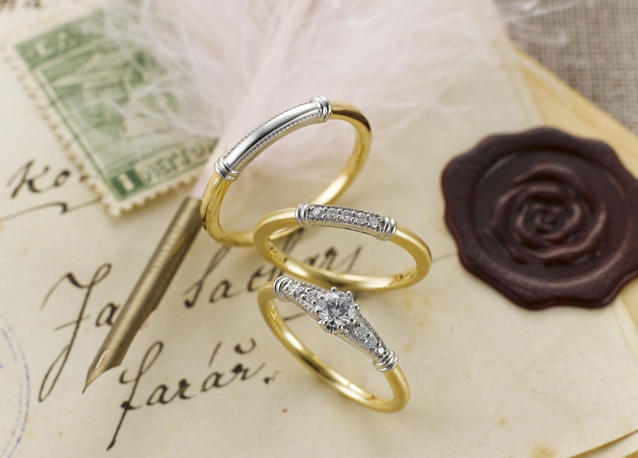 シンプルなデザインから個性溢れるデザインも♡静岡市にあるSirena Azzurro〈セイレーン アズーロ〉の結婚指輪が素敵!