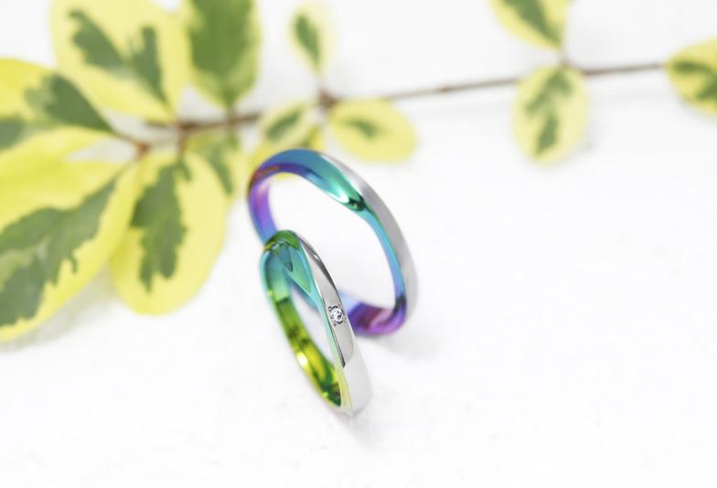 きれいな緑色・グリーンの結婚指輪♡浜松で色が選べる2人だけの特別な結婚指輪を探すなら