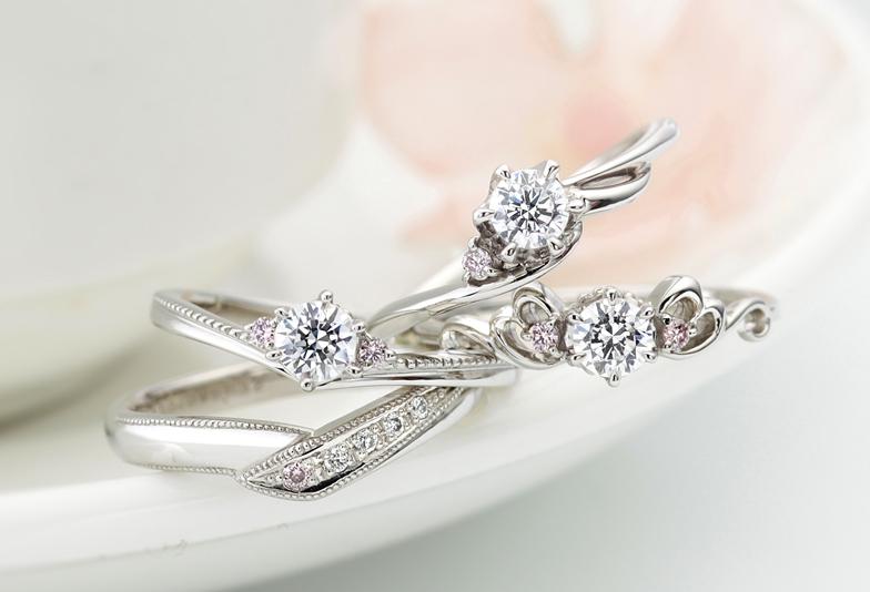 【静岡市】一目惚れ女子続出!!ピンクダイヤモンドの婚約指輪・結婚指輪が大人可愛い♡