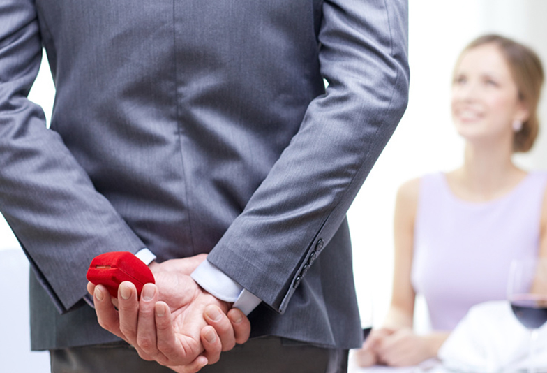 【神奈川県横浜市】プロポーズの成功のカギは婚約指輪!男性の7割が婚約指輪を贈るワケ