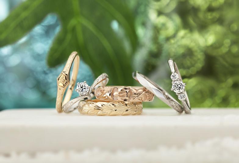 静岡市 話題の結婚指輪 永遠を示す模様を施したハワイアンジュエリー