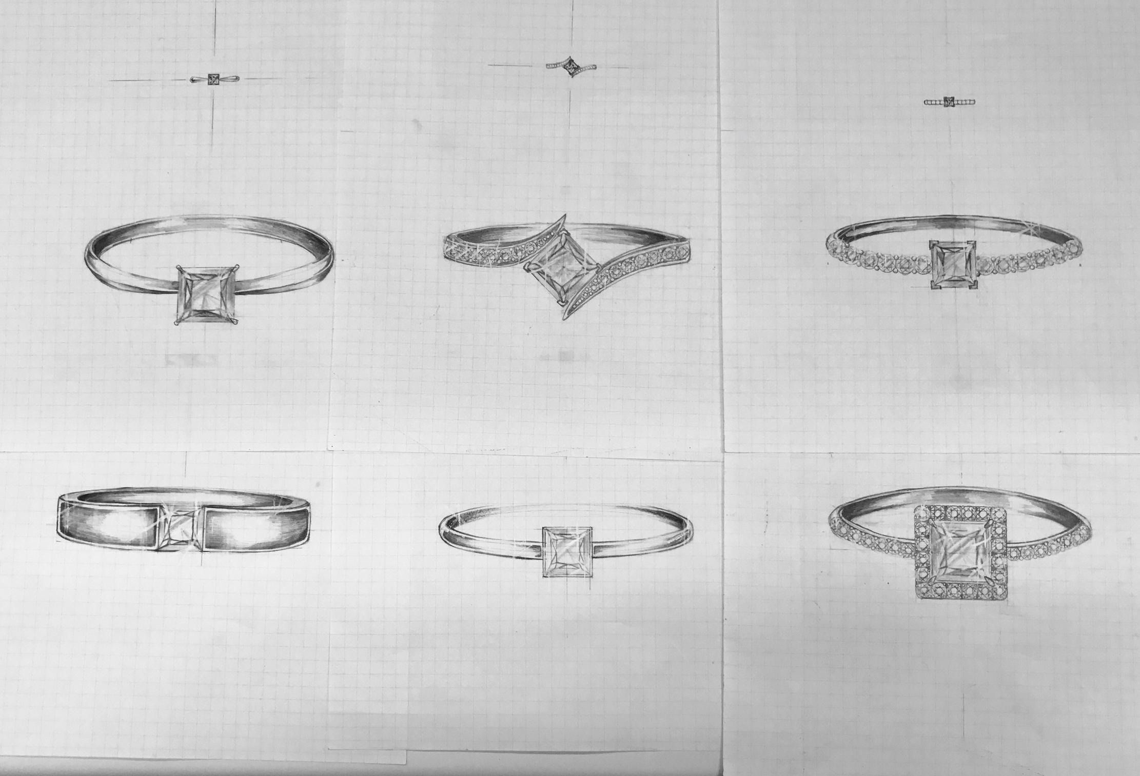 【浜松・浜松市】世界にひとつだけ オーダーメイドの婚約指輪・結婚指輪 主役のダイヤモンド 気品あふれる「プリンセスカット」に注目