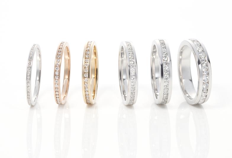 浜松市エタニティリング 毎日着けられるエタニティリングを婚約指輪・結婚指輪に 種類別徹底比較