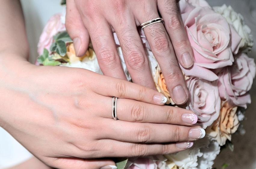 結婚指輪のお披露目