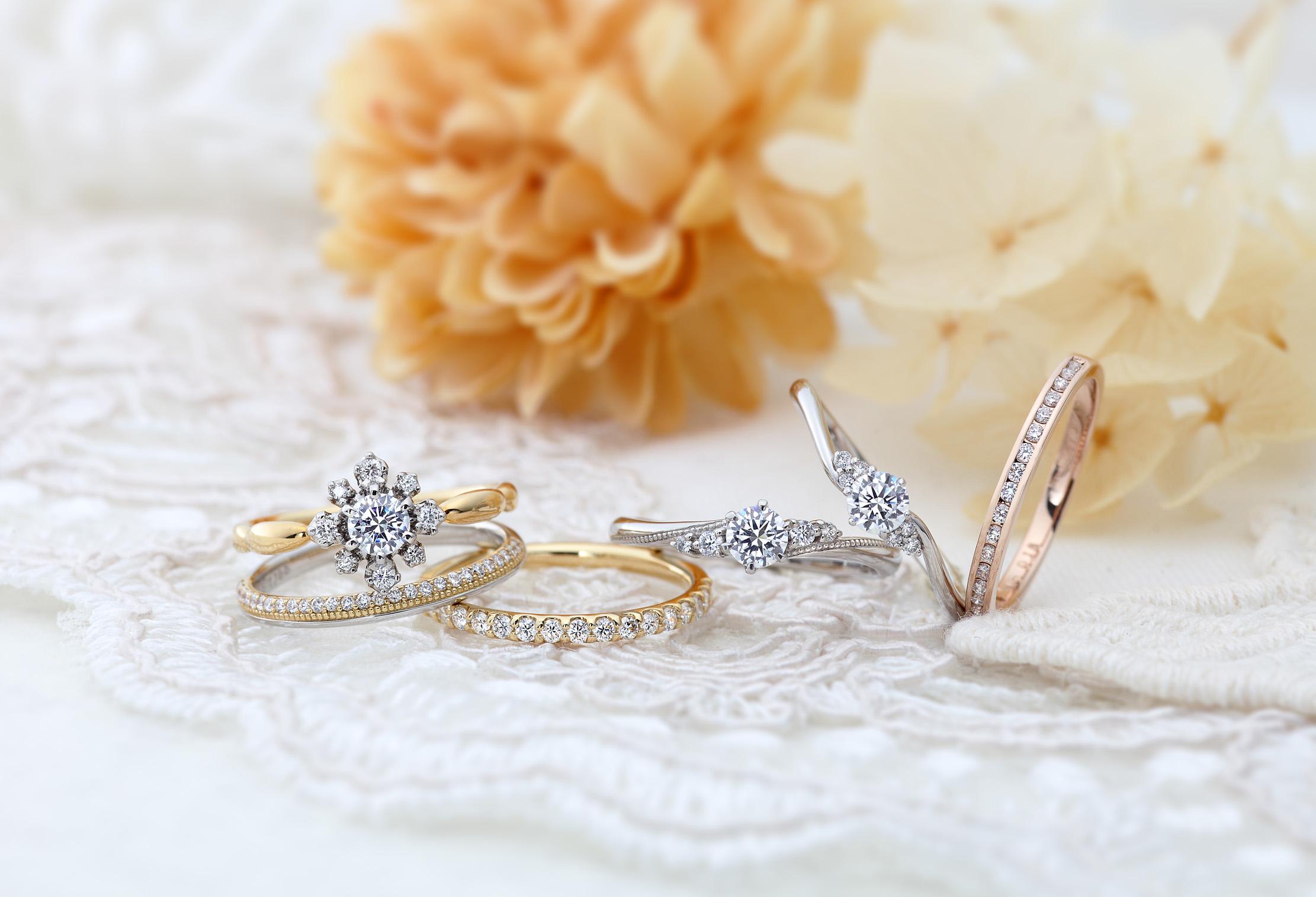 【静岡街中】結婚指輪・婚約指輪なら大人可愛いVIVAGE〈ヴィヴァージュ〉はいかが?