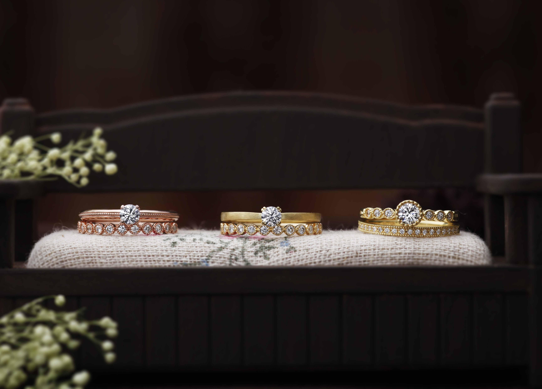 【静岡市】アンティーク調のデザインで差がつく!素敵な婚約指輪『CHER LUV』シェールラブ