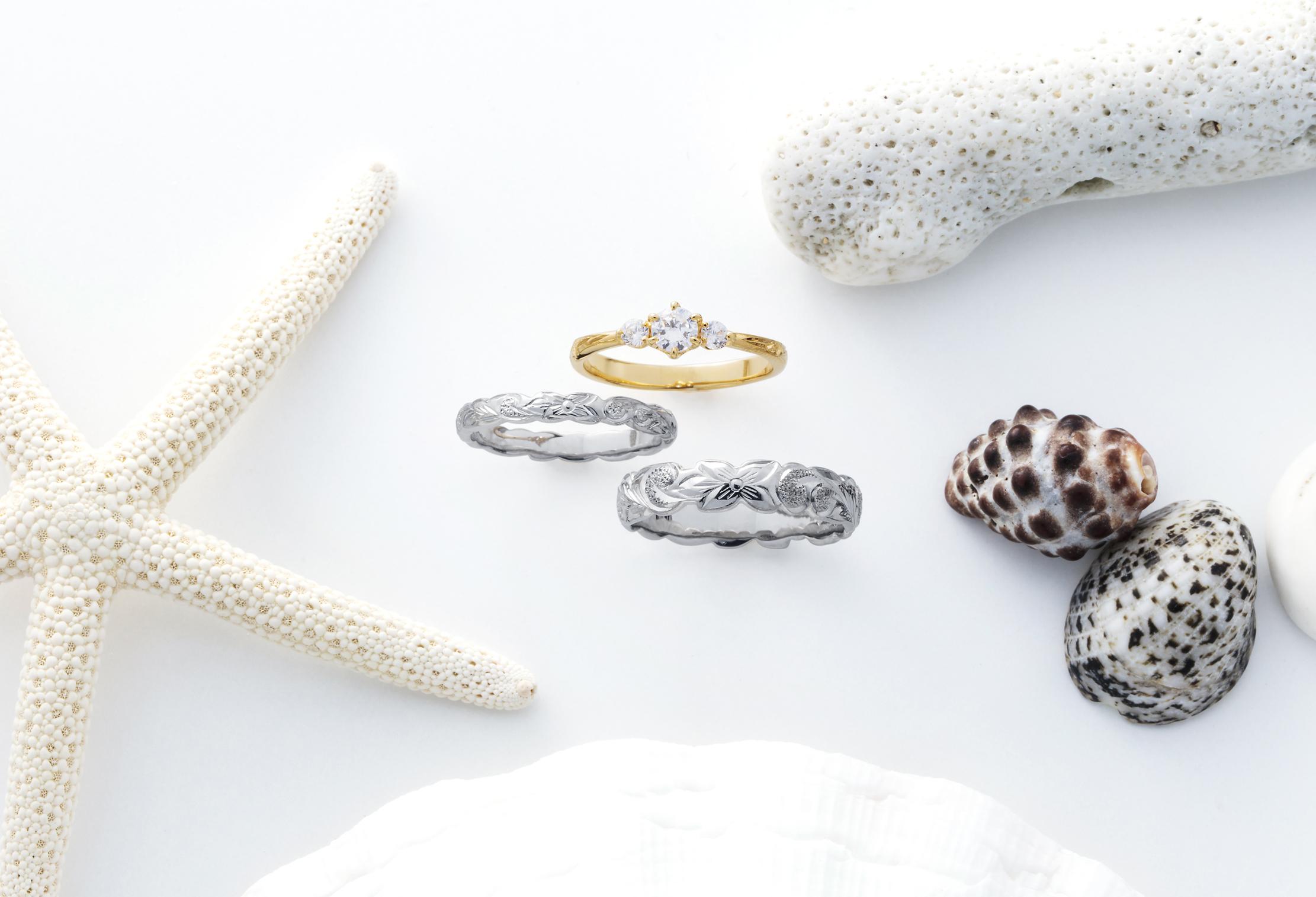 【静岡市】ハワイアンジュエリーはカットアウトで印象が変わる♡結婚指輪はハワジュで決まり!!