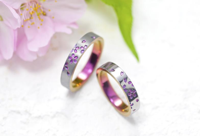 きれいな桃色・ピンクの結婚指輪 浜松で色が選べる2人だけの特別な結婚指輪を探すなら
