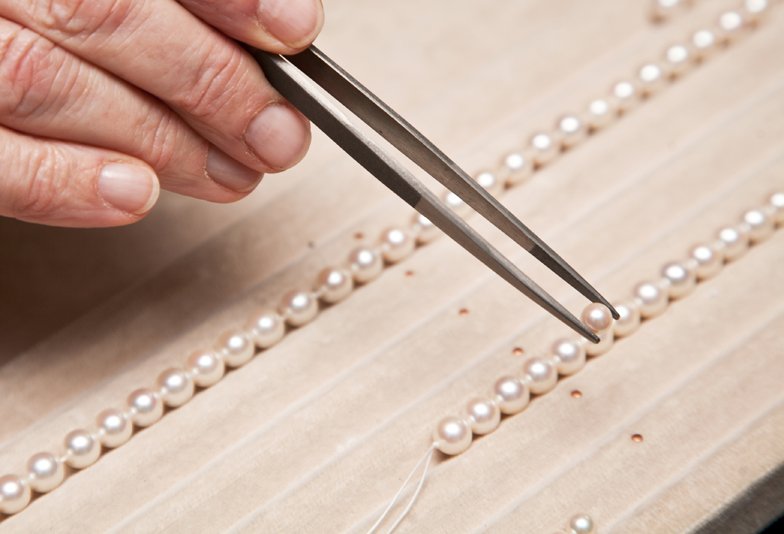 真珠糸替え