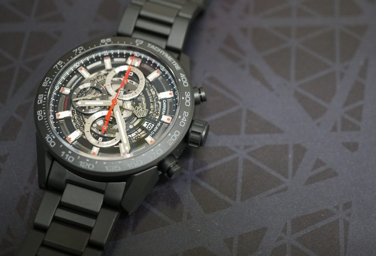 【静岡タグホイヤー】一度は付けてほしい時計TAGHeuerカレラ01ブラックセラミック43㎜