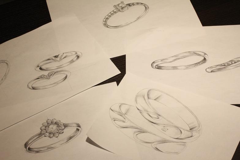 【浜松】こだわりの結婚指輪!!人気のセミオーダーブライダルリング♡