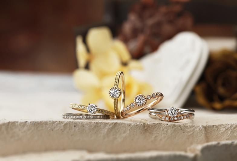 【浜松】大人可愛いオシャレなデザインがオススメ!アンティーク調の婚約指輪・結婚指輪♡