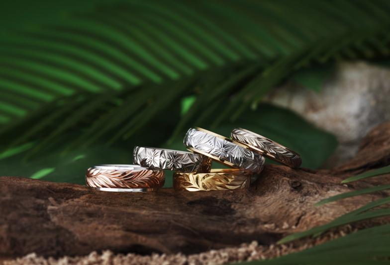 ハワイアンジュエリーの結婚指輪ハートアイランド