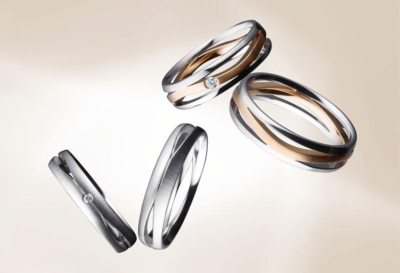 【浜松市】シンプルお洒落なボリュームのある結婚指輪
