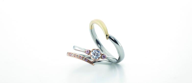 多彩な素材選び婚約指輪