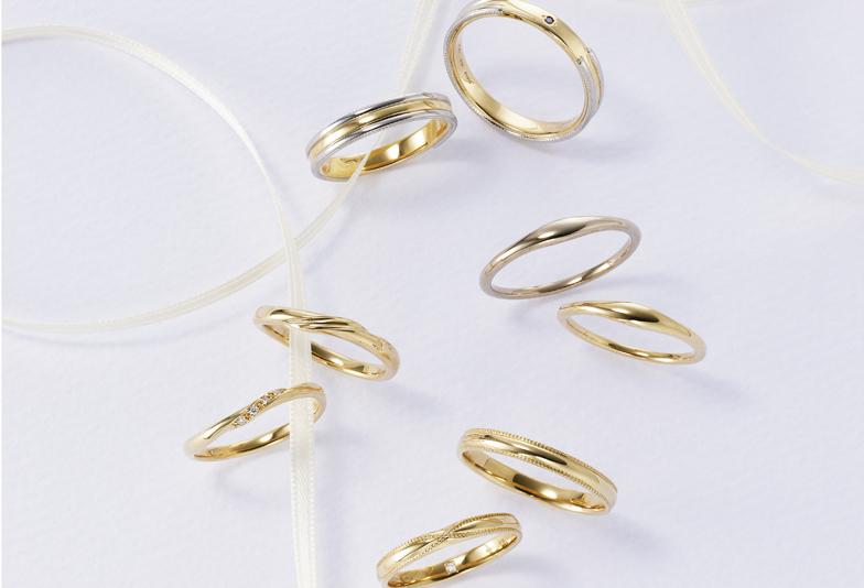 【静岡市】イエローゴールドの結婚指輪がオシャレ♡プラチナと迷っている人も必見!