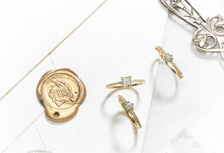 【浜松】細身で華やかなデザインのおしゃれな婚約指輪!ワタシ色を大切にしたブライダルリング