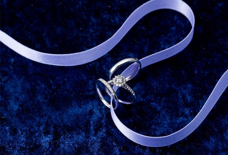 【浜松市】上品な大人の女性が選ぶ婚約指輪・結婚指輪のセットリング