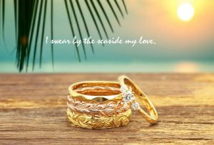 【浜松・豊橋】ハワイが好きならやっぱり可愛いハワイアンな婚約指輪を!