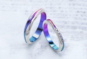 【SORA 結婚指輪】カラーとダイヤが美しい新作リング 静岡市2018年夏