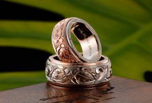 【浜松市・静岡市】海の守り神「海亀」(ホヌ)を入れた結婚指輪!ハワジュだけではない!
