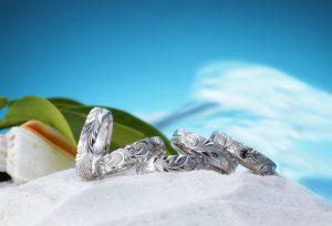 豊橋で常夏の海が似合う【ハワイアンジュエリー】婚約指輪、結婚指輪