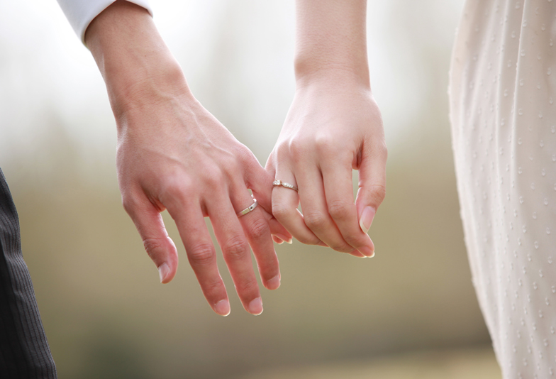 【浜松市】強い強度を持つ鍛造製法でお作りをした、お洒落な結婚指輪