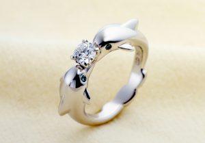 【静岡市】ドルフィンリング!イルカの婚約指輪と結婚指輪はオーダーメイドで
