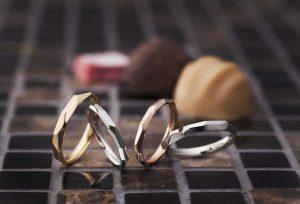 【豊橋市】今人気のカットリング!カットデザインがオシャレな結婚指輪をご紹介