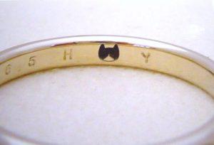 【静岡市】猫をデザインした結婚指輪を作りました!