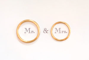 【広島市】私達が選んだ結婚指輪は少し太めのゴールドです!デザインがとても気に入ってます♪