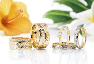 ハワイアンジュエリーがオーダーメイドで作れる自分だけの結婚指輪 Makana(マカナ)【富士市】