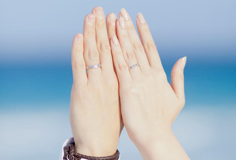【静岡市】男性と女性、デザインの違う結婚指輪