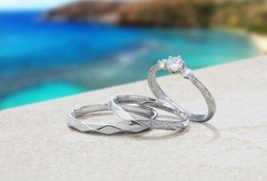 【浜松市】手彫りハワイアンジュエリーの結婚指輪が可愛い♡