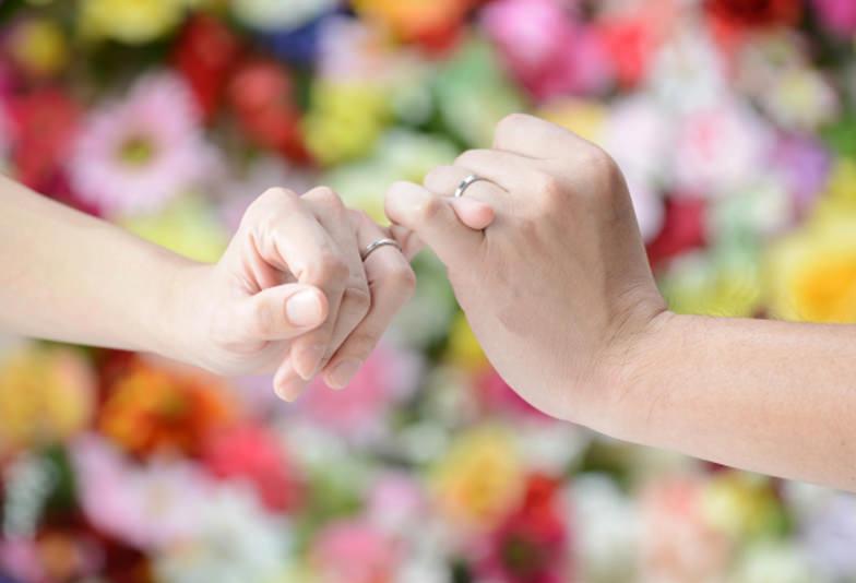 【浜松市】二色が可愛い♡コンビネーションタイプの結婚指輪!
