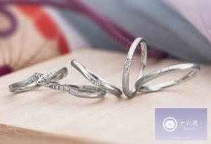 【静岡市】結婚指輪のつや消しは女性もアリ?!落ち着いた印象の結婚指輪『十六夜』