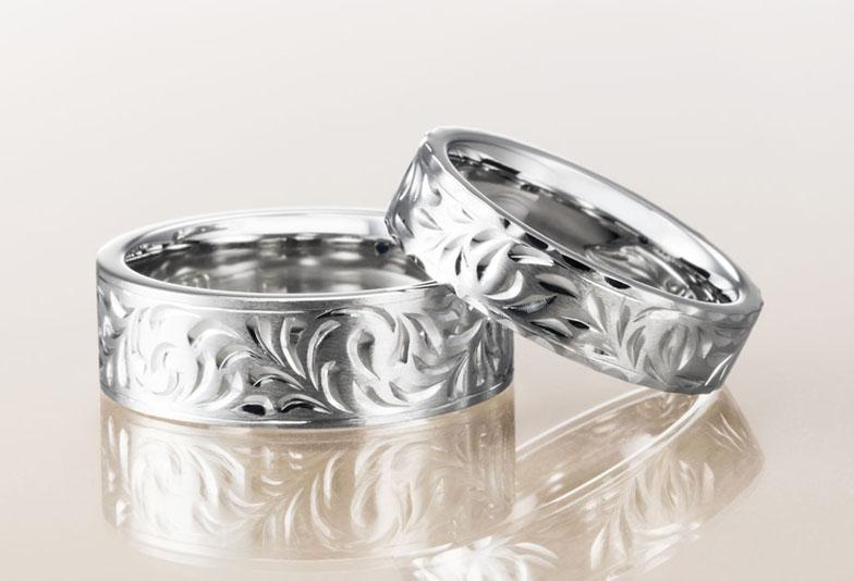 フラットタイプの結婚指輪