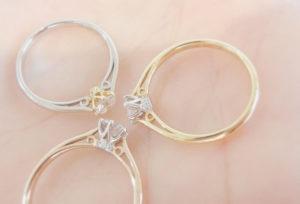 【大阪・心斎橋】低価格からも買える!女性人気のプラチナ×ゴールドの婚約指輪をサプライズプロポーズで贈りませんか?♡