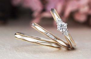 【金沢市】結婚指輪と婚約指輪の重ね付け