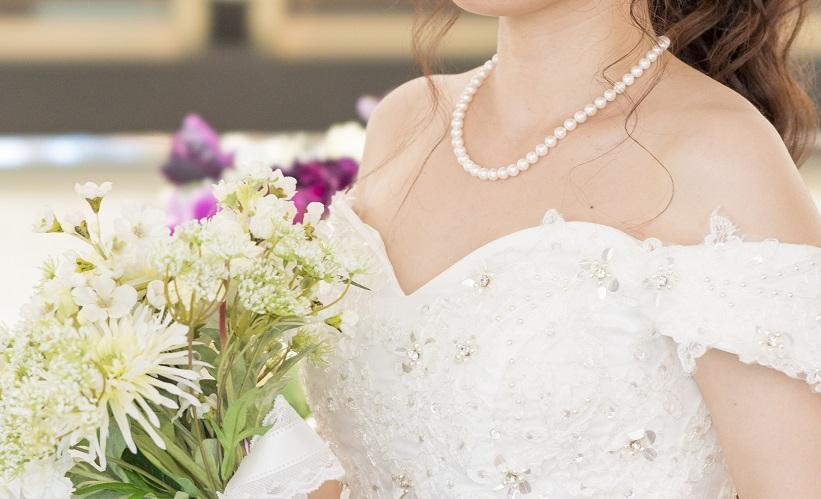 結婚式真珠ドレス岸和田市堺市