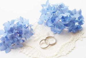 【広島市】サムシングブルーの結婚指輪が話題!青い物を身に着けた花嫁様は幸せになれる!?