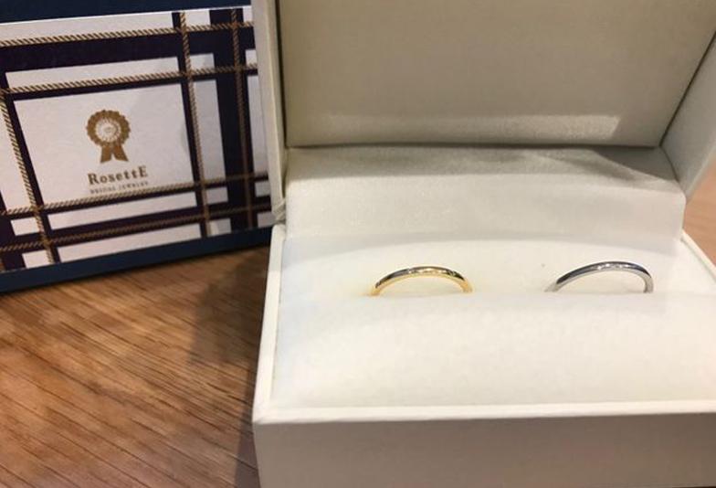 結婚指輪華奢ロゼット