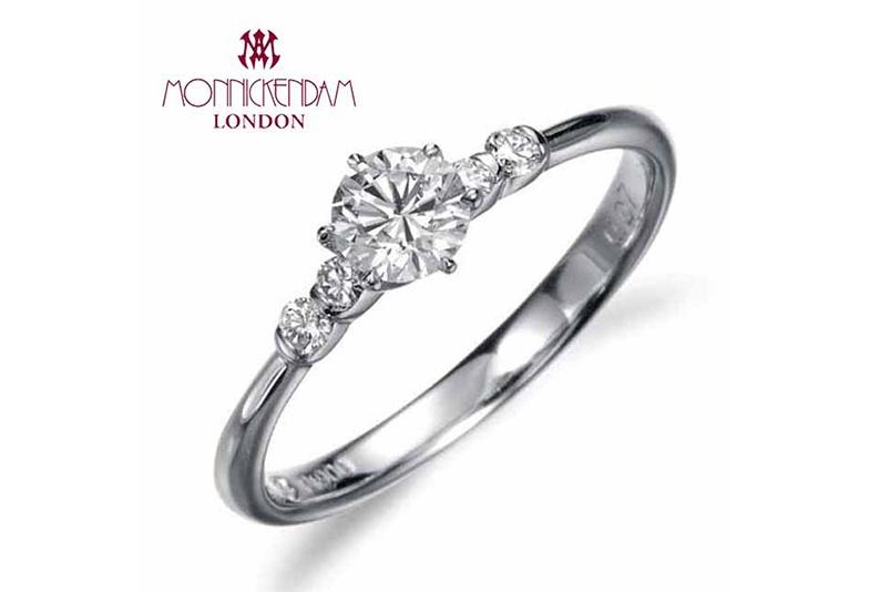 世界3大カッターズブランドの一つ「モニッケンダム」の婚約指輪。エンゲージリング人気デザイン