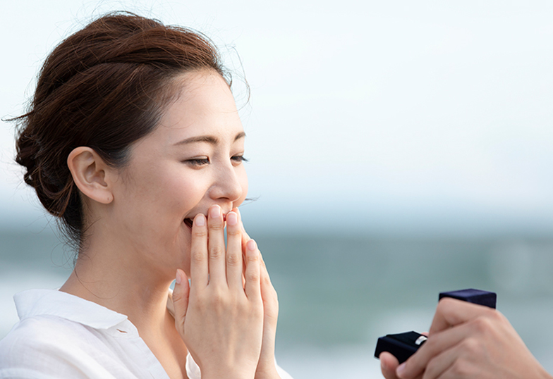 【和歌山・泉南】プロポーズリング(婚約指輪) ダイヤモンドの大きさはどれぐらいを選ぶの?