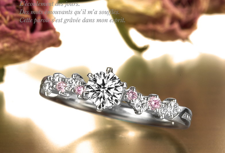 婚約指輪リフォームプラチナゴージャス