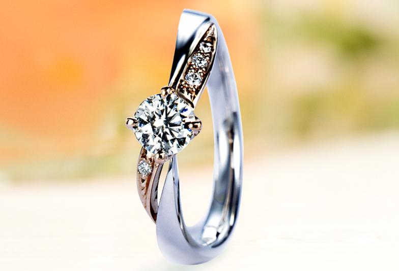 婚約指輪リフォームピンクゴールドコンビ