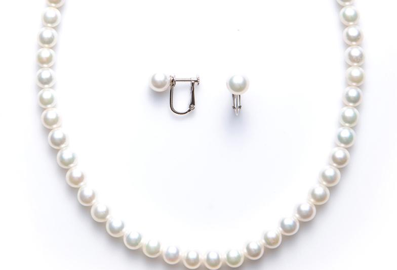 【姫路市】真珠ネックレスのお手入れ方法について